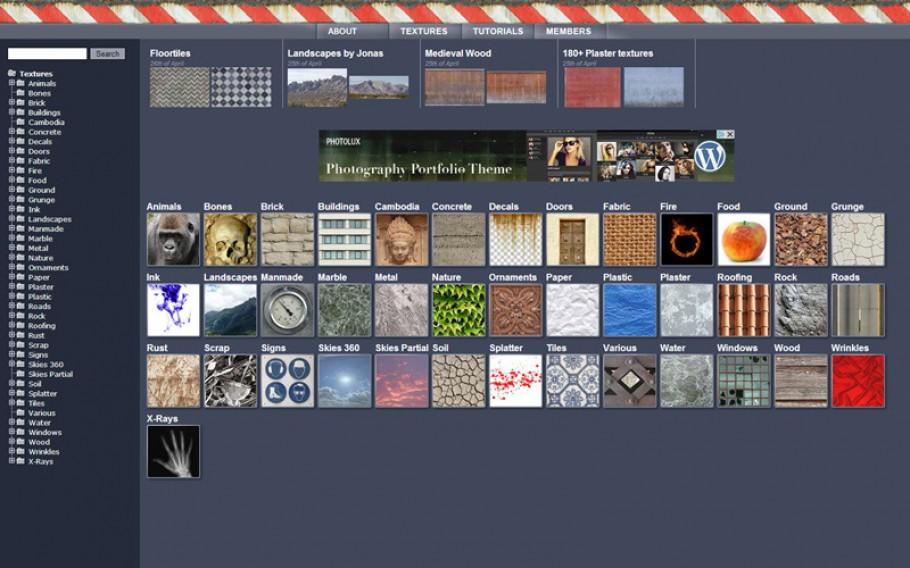 VWArtclub - Free CG Textures Websites