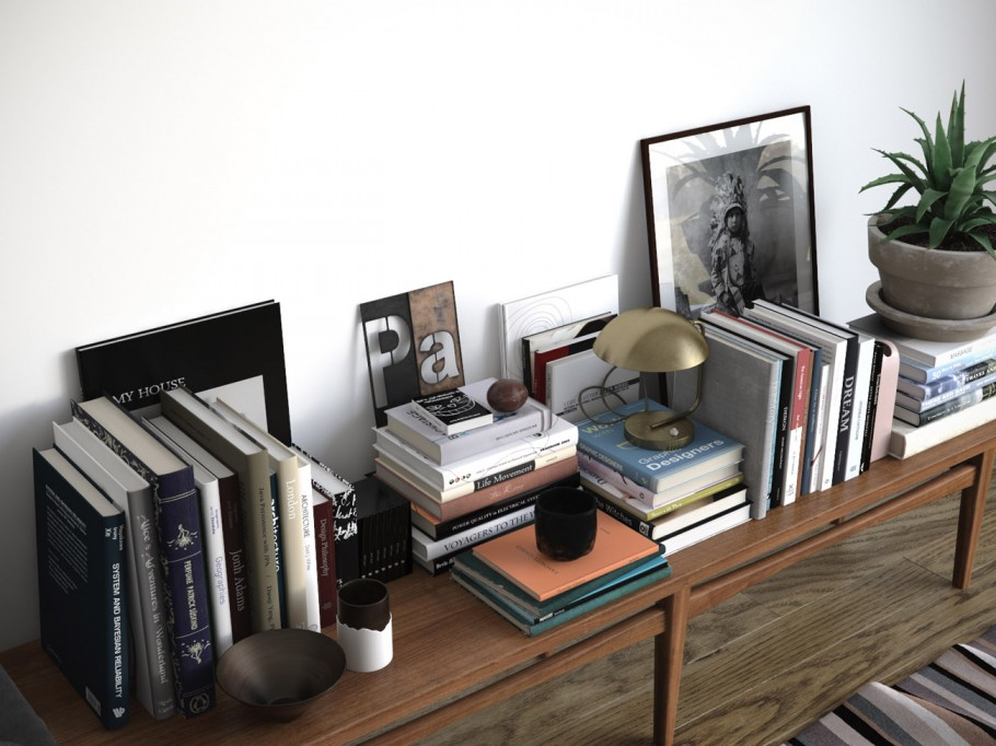 Shelf with accessories