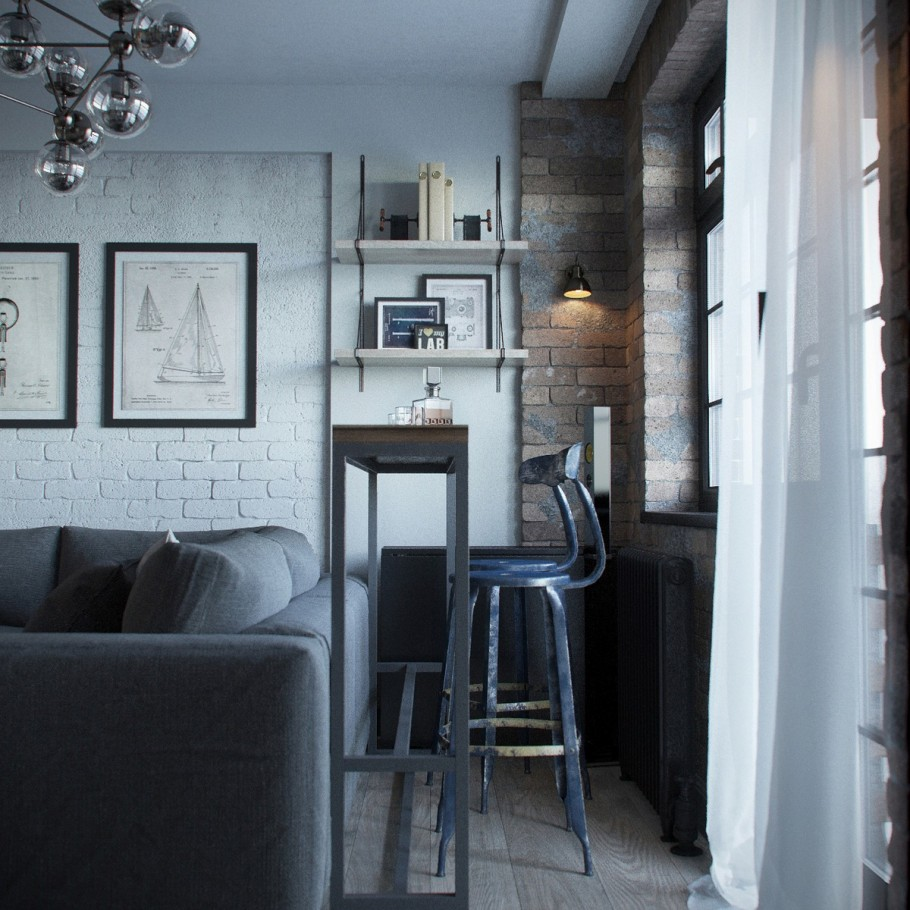 Loft in a small apartment