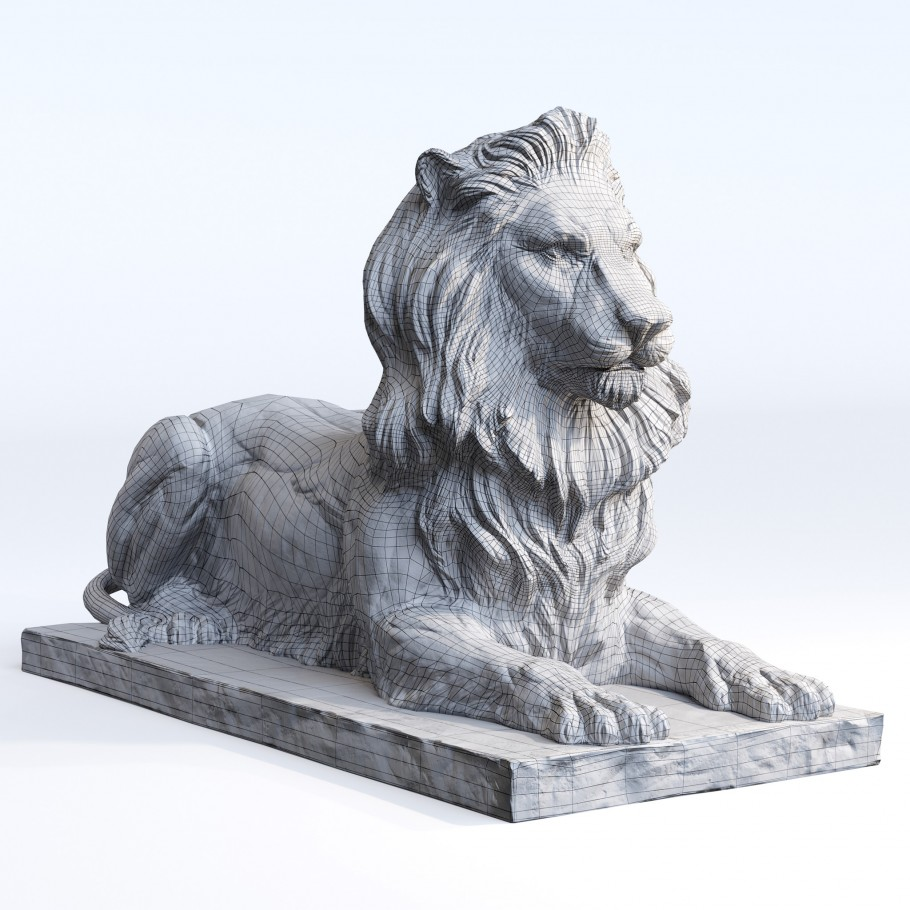 Bronze Lion lowpoly