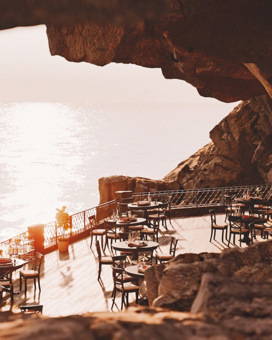 Restaurant on the rock