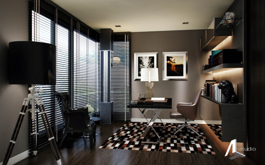 Black toned interior
