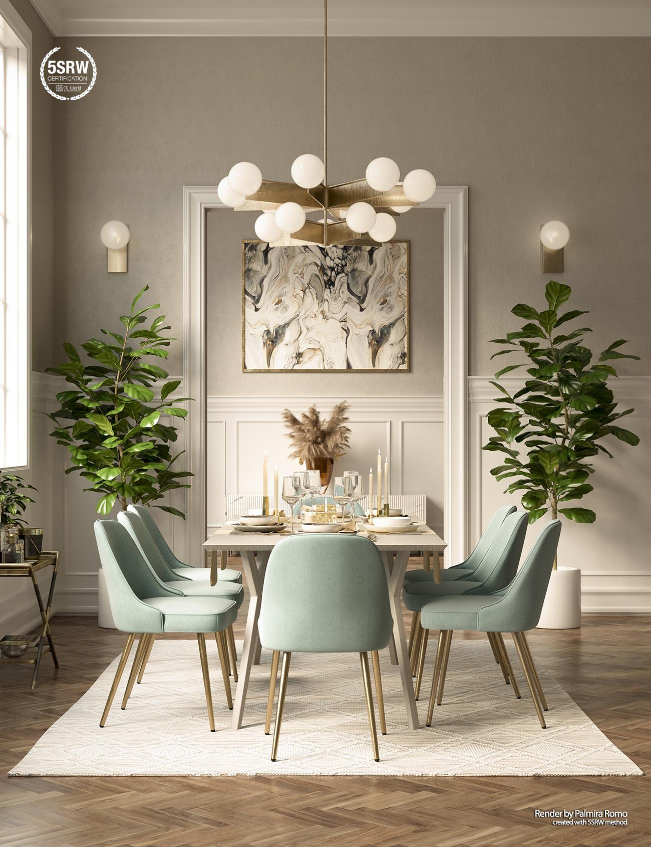 Vwartclub Elegant Dining Room, Elegant Dining Room