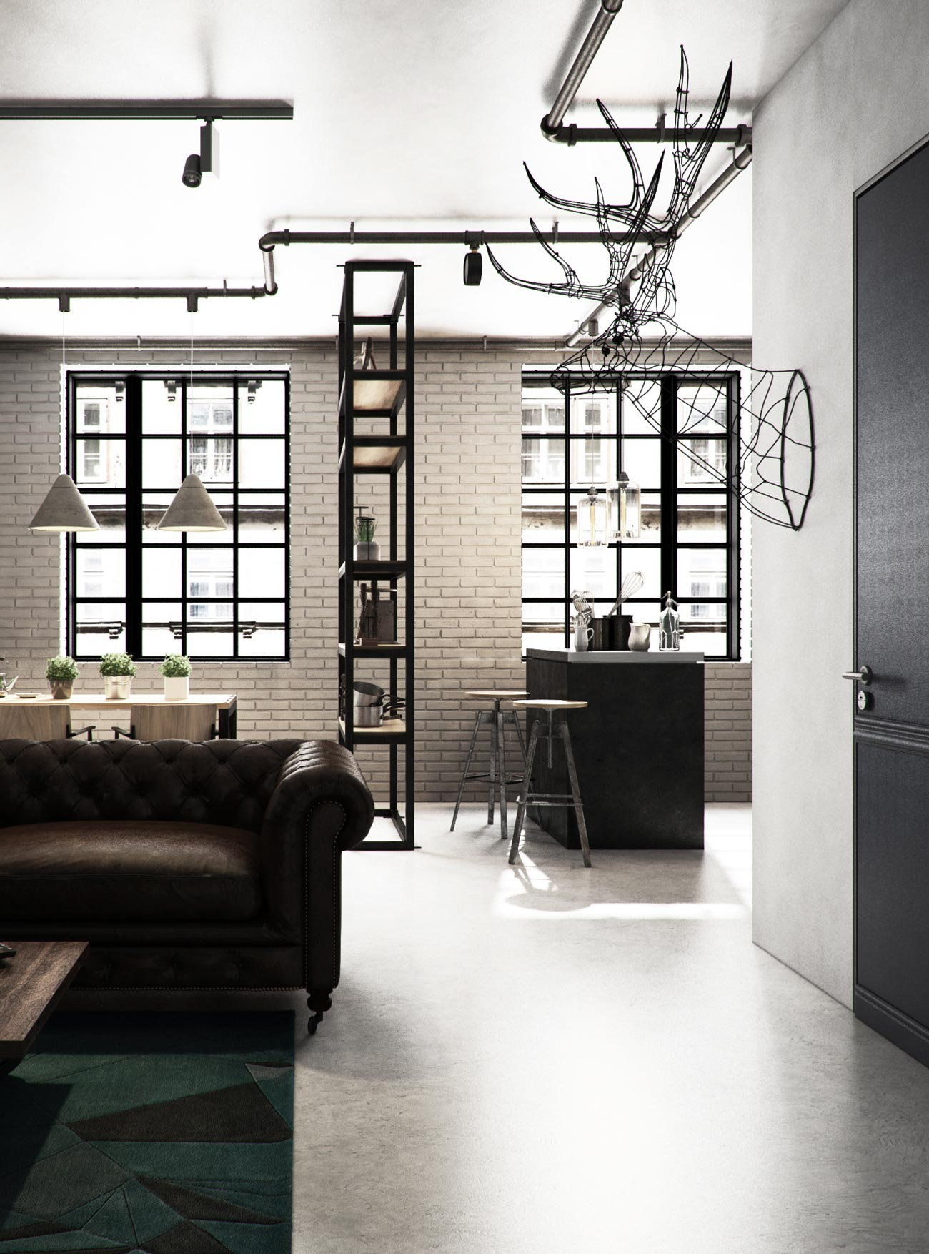 Vwartclub Industrial Apartment