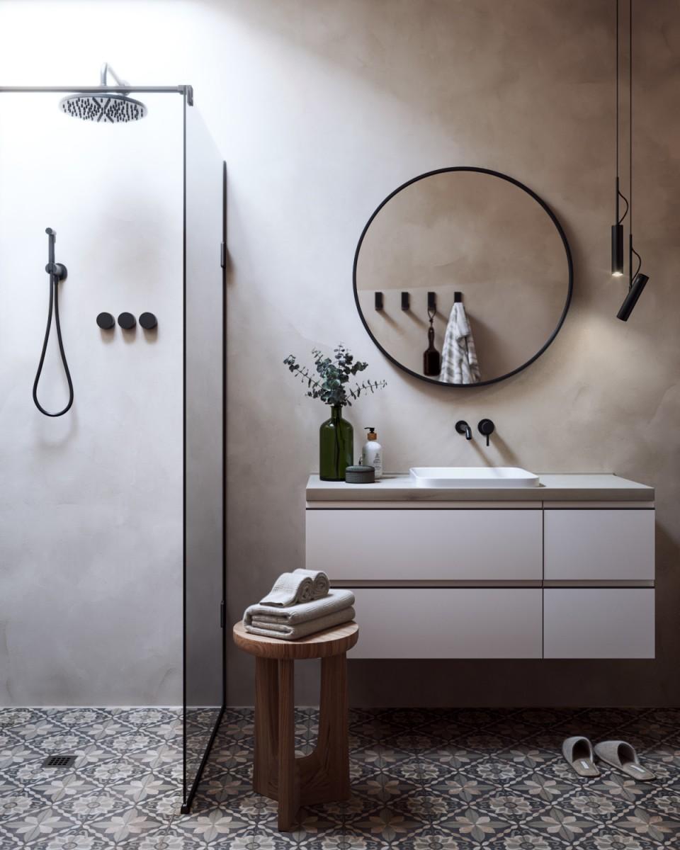 Vwartclub Minimalist Bathroom